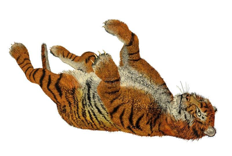 Het spelen van de tijger vector illustratie