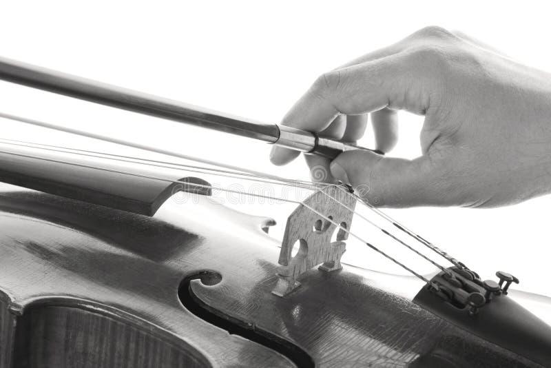 Het spelen van de viool stock afbeeldingen