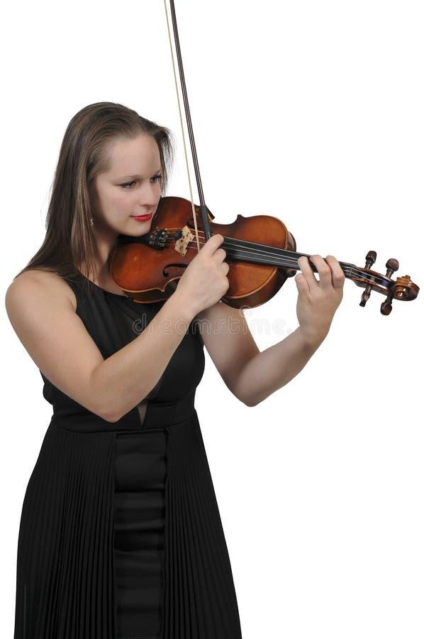 Het spelen van de vrouw viool royalty-vrije stock foto