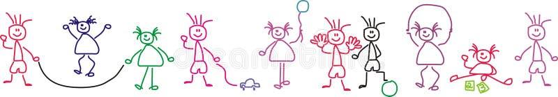 Het spelen van kinderen vector illustratie