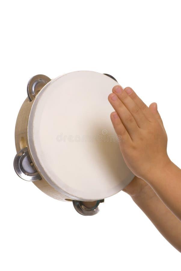Het spelen van tamboerijn 2 royalty-vrije stock afbeeldingen