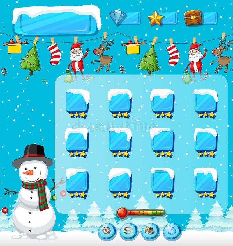 Het spelmalplaatje van de winterkerstmis royalty-vrije illustratie