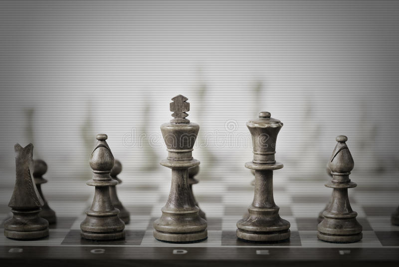 Het spelsamenvatting van het schaak royalty-vrije stock foto