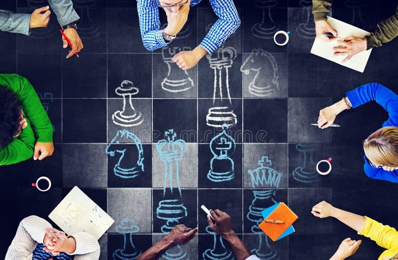 Het Spelsporten die van de schaakraad Concept spelen royalty-vrije stock afbeeldingen