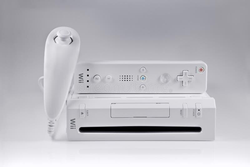 Het spelsysteem van Nintendo Wii stock fotografie