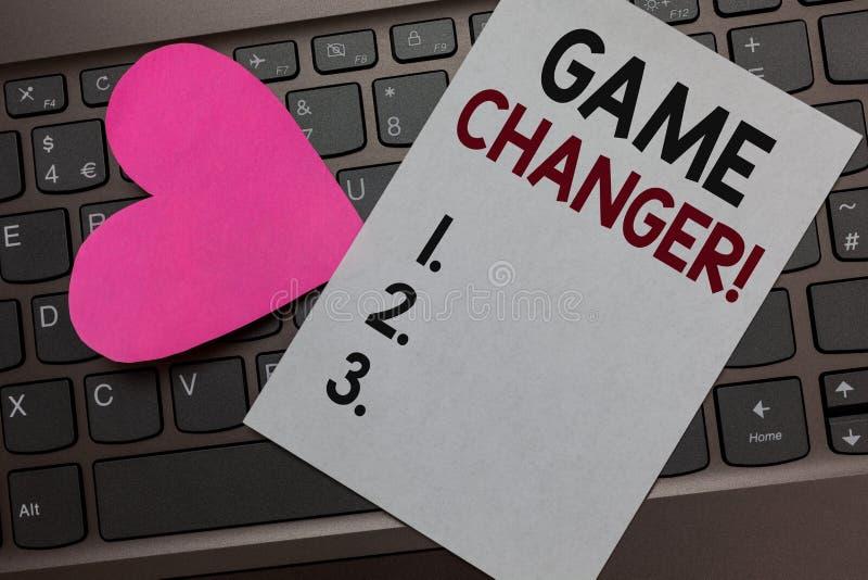 Het Spelwisselaar van de handschrifttekst Concept die de Doelpuntenmaker Gamestreams Live Scores Team Admins Paper Romantisch moo stock afbeelding