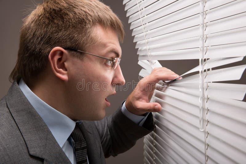 Het spioneren stock foto's