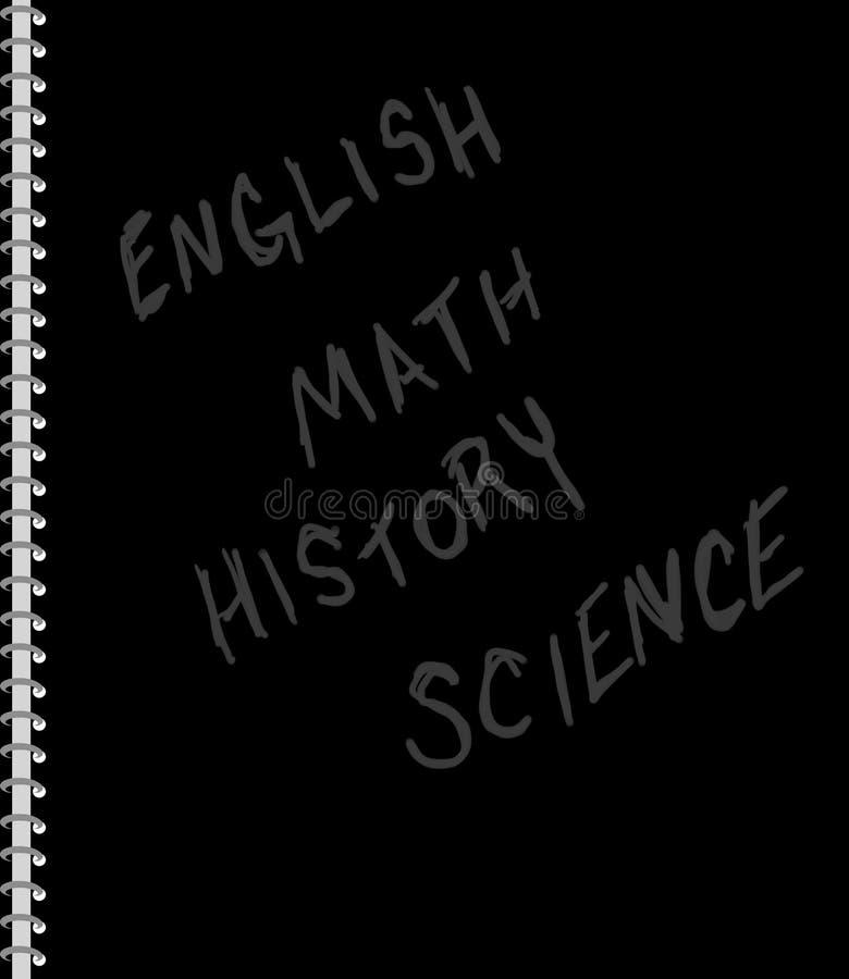 Het Spiraalvormige Notitieboekje van de student stock illustratie