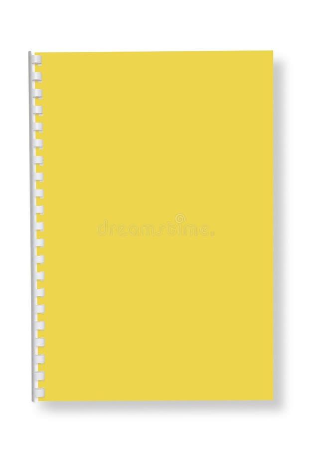 Het spiraalvormige notitieboekje van het document. stock foto