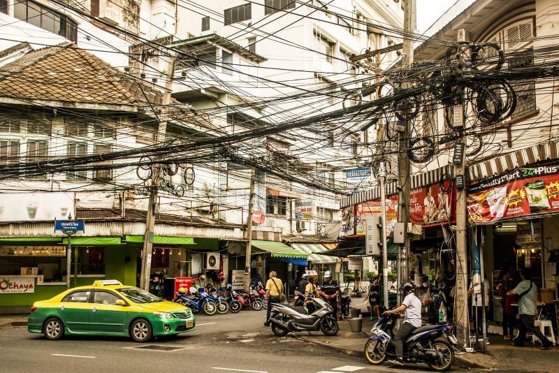 Het Spitsuur Dagelijkse Zaken 2 van straatbangkok Thailand stock afbeeldingen