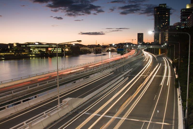 Het Spitsuurverkeer Van Brisbane Royalty-vrije Stock Afbeelding