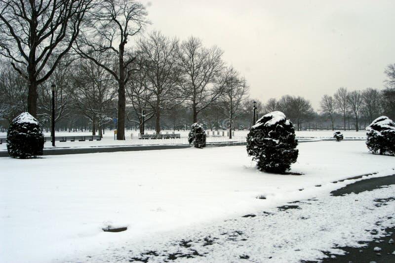 Het spoelen de Winter van Weiden stock foto