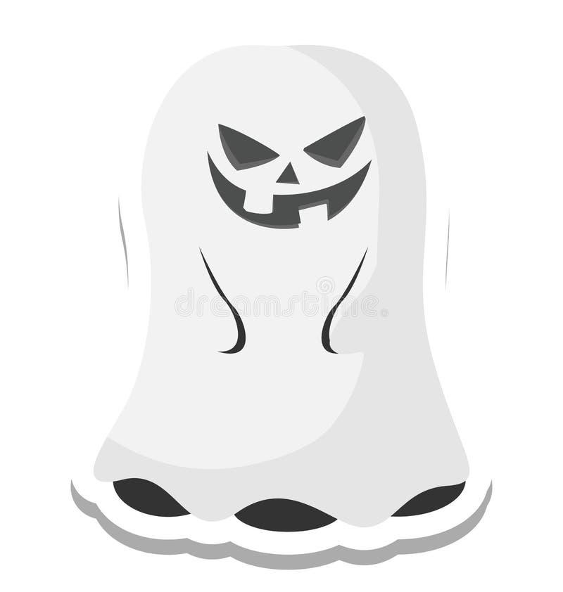 het spook, eng Kleur Geïsoleerd Vectorpictogram dat kan gemakkelijk zijn geeft uit of wijzigde zich stock illustratie