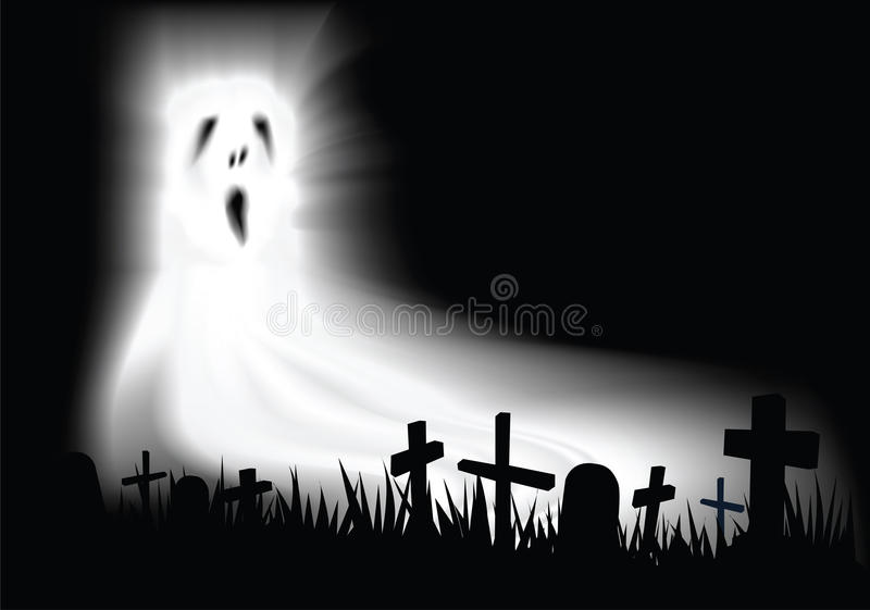 Het spook van de begraafplaats vector illustratie