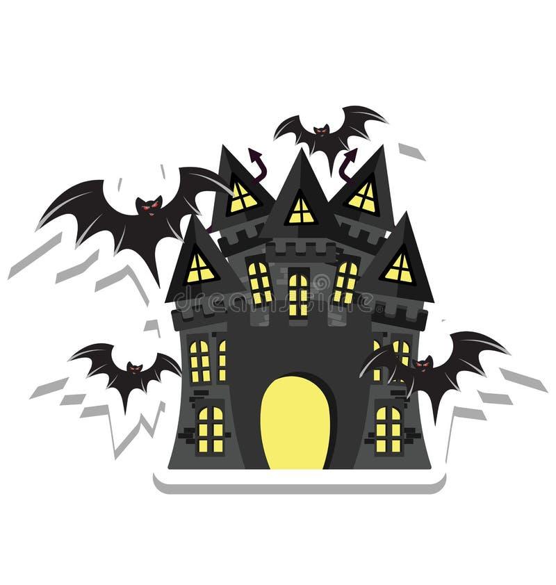 het spookhuis, Halloween-herenhuiskleur Geïsoleerd Vectorpictogram dat kan gemakkelijk zijn geeft uit of wijzigde zich vector illustratie