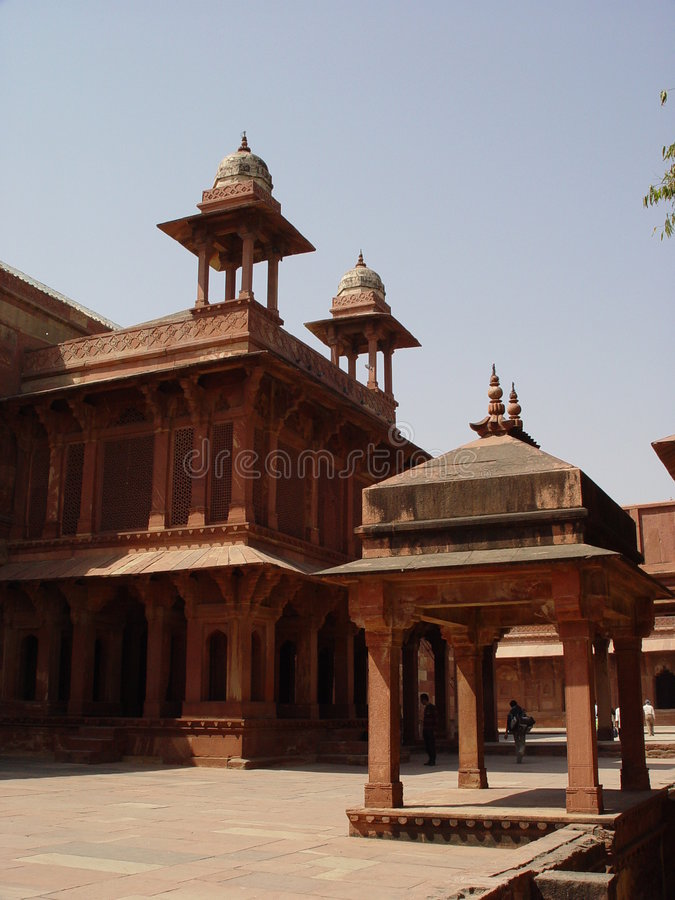 Het spookstad van Sikri van Fatehpur royalty-vrije stock foto's