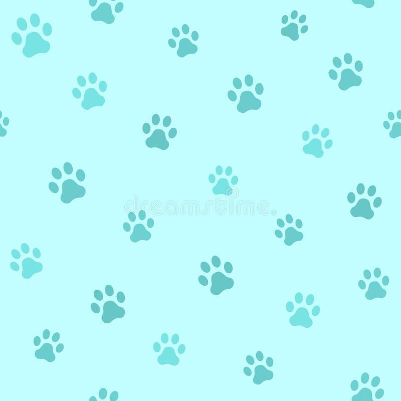Het spoor van de hondpoot Naadloos dierlijk patroon van pootvoetafdruk Vector royalty-vrije illustratie