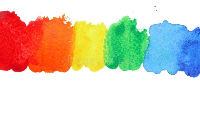 Het spoor van de kleur op papier royalty-vrije stock foto