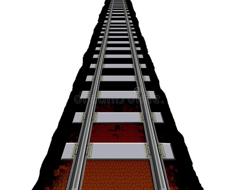Het spoor van de spoorweg stock afbeeldingen