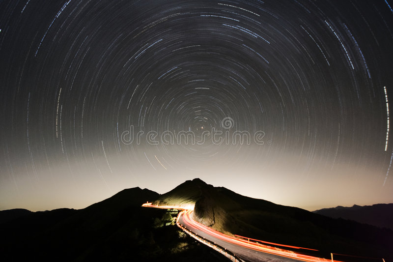 Het spoor van de ster stock foto's