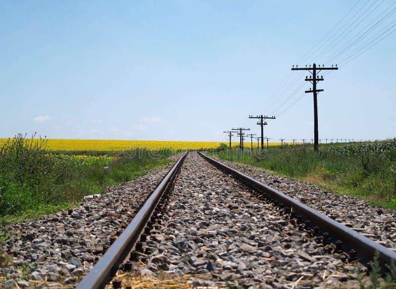 Het spoor van de trein royalty-vrije stock afbeelding