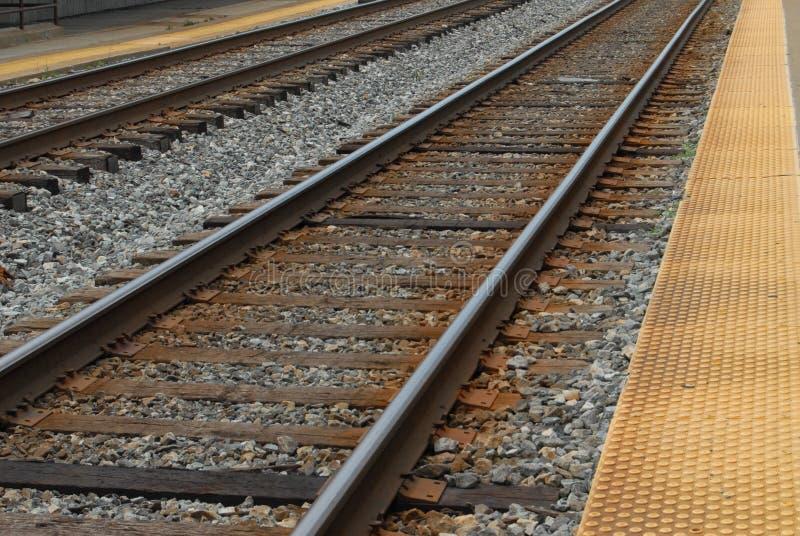 Het Spoor van de trein in Rockville, Maryland de V.S. stock fotografie