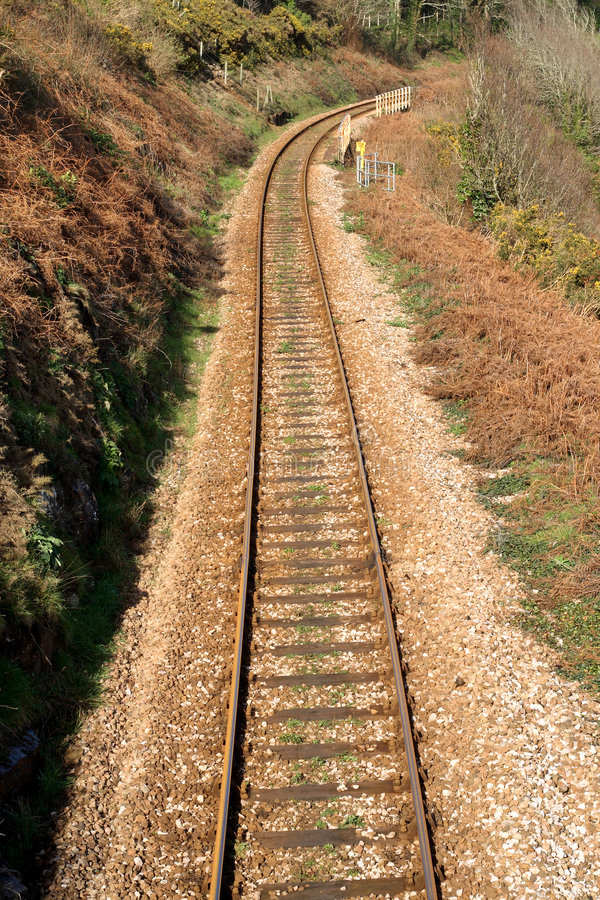 Het spoorwegspoor aan St. Ives. royalty-vrije stock fotografie