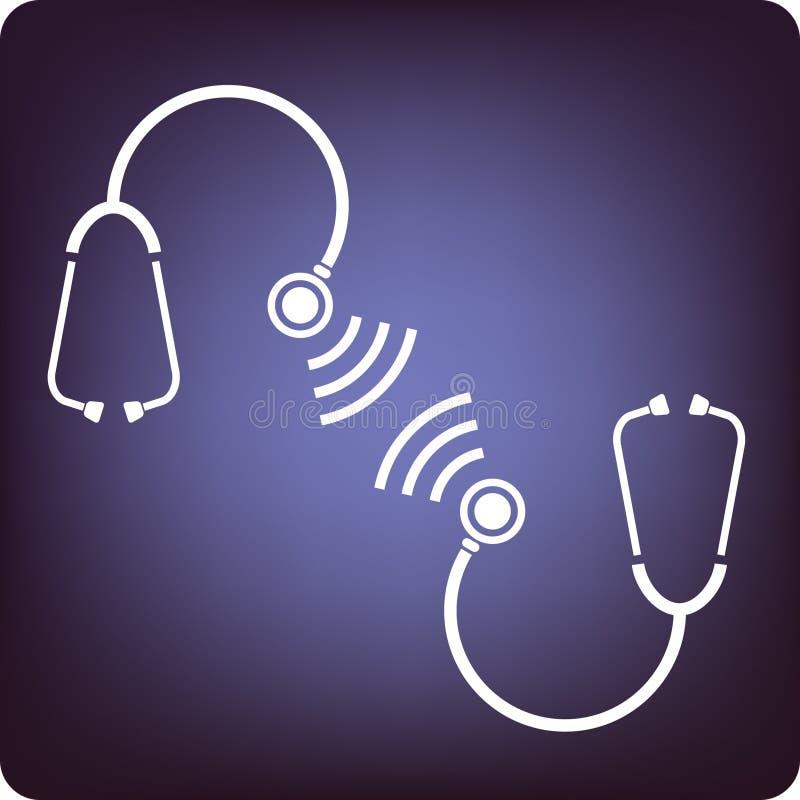 Het spreken van stethoscopen stock illustratie