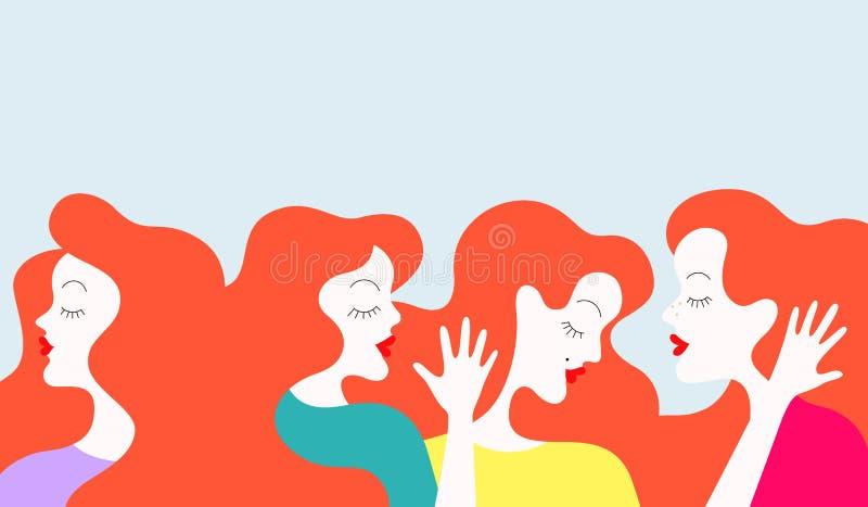 Het spreken van vrouwen vector illustratie