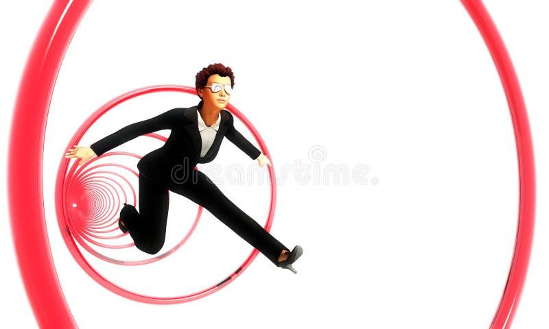 Het springen door Hoepels vector illustratie