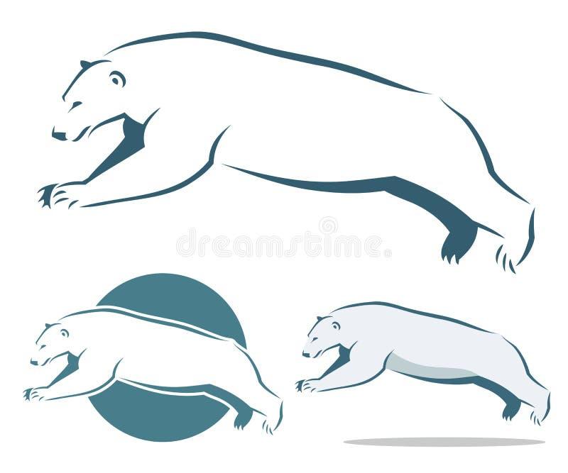 Het springen ijsbeer vector illustratie