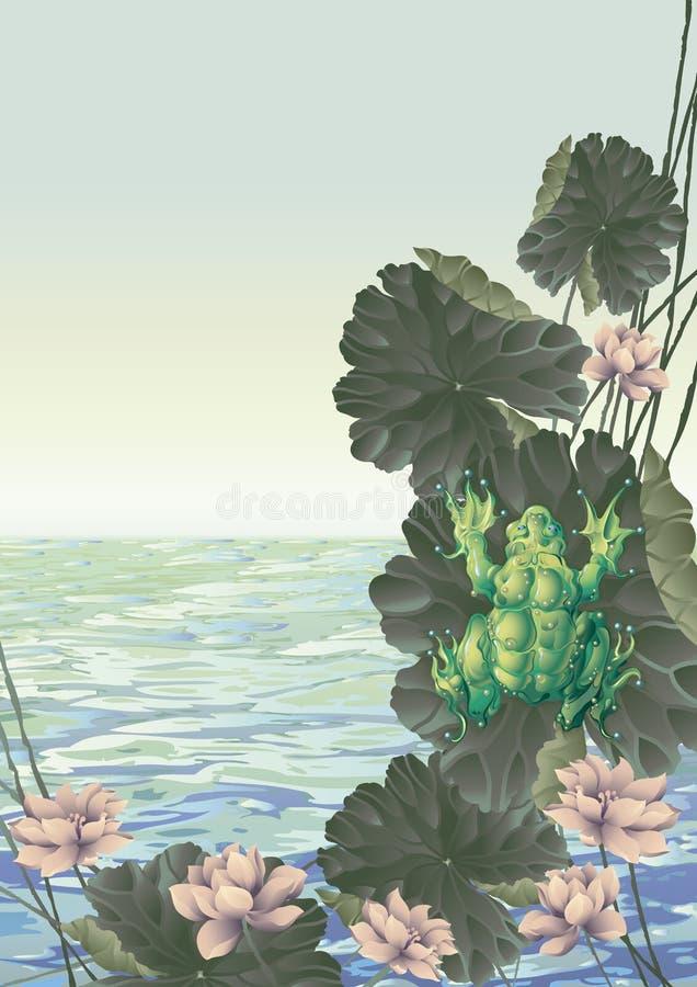 Het springen Kikker vector illustratie