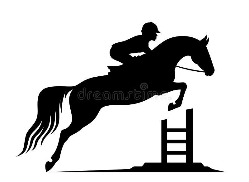 Het springen paard royalty-vrije illustratie