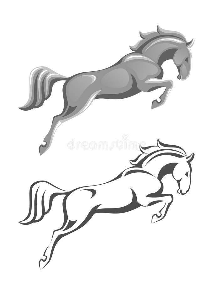 Het springen paard stock illustratie