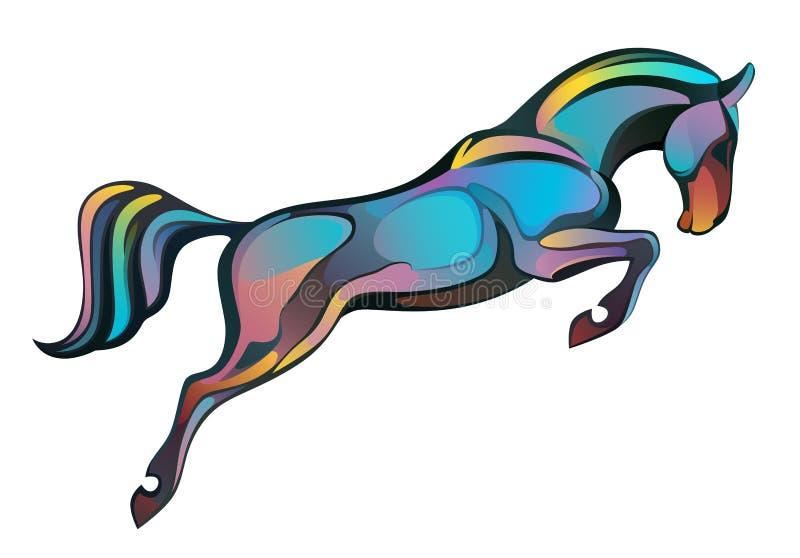Het springen paard vector illustratie