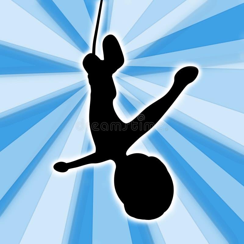 Het Springen van Bungee vector illustratie