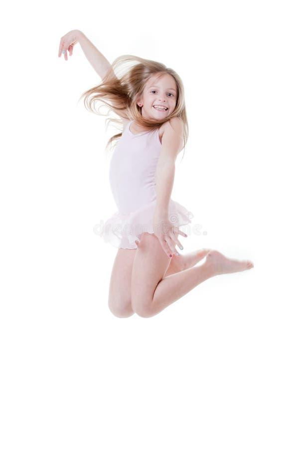 Het springen van de ballerina royalty-vrije stock afbeeldingen