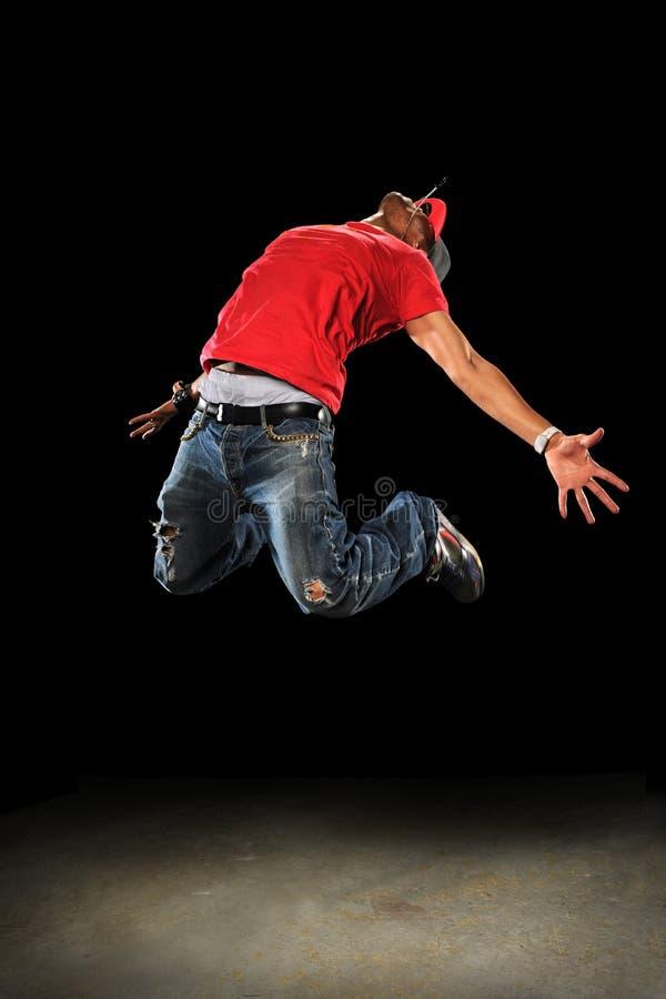 Het Springen van de Danser van Hip Hop royalty-vrije stock foto