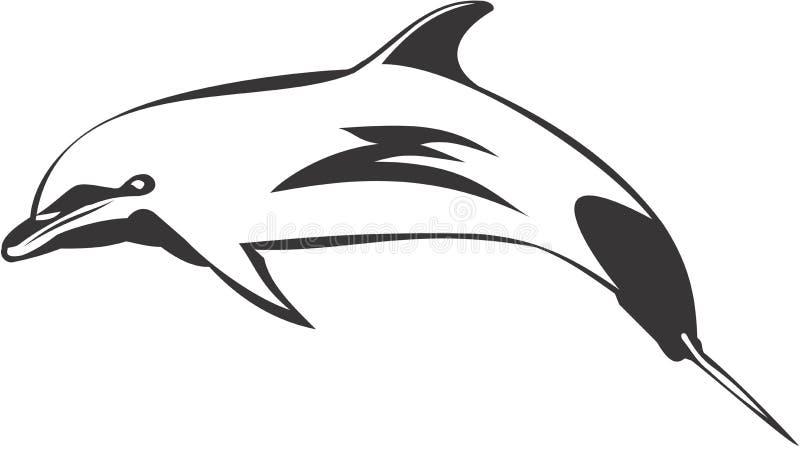 Het Springen van de Dolfijn van Bottlenose royalty-vrije illustratie