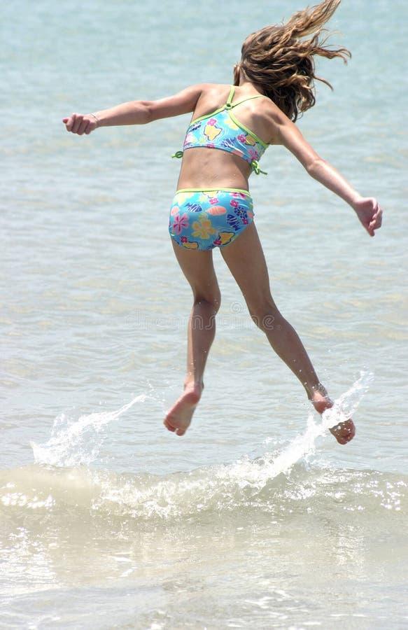Het springen van de golven royalty-vrije stock foto