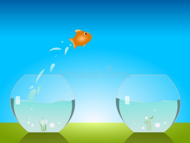 Het springen van de goudvis royalty-vrije illustratie