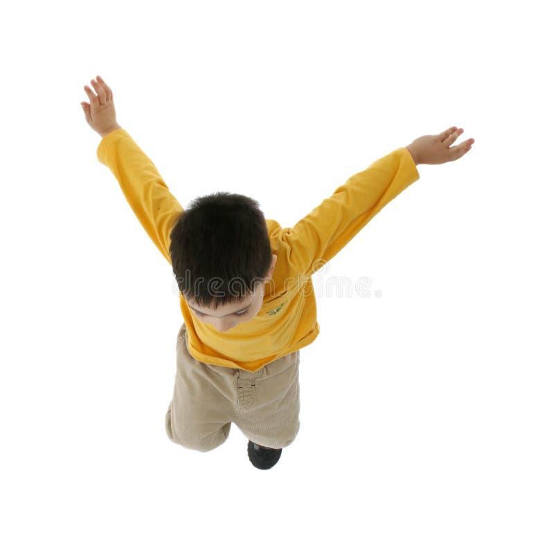 Het Springen van de jongen royalty-vrije stock afbeelding