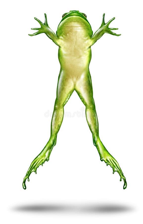 Het Springen van de kikker stock illustratie