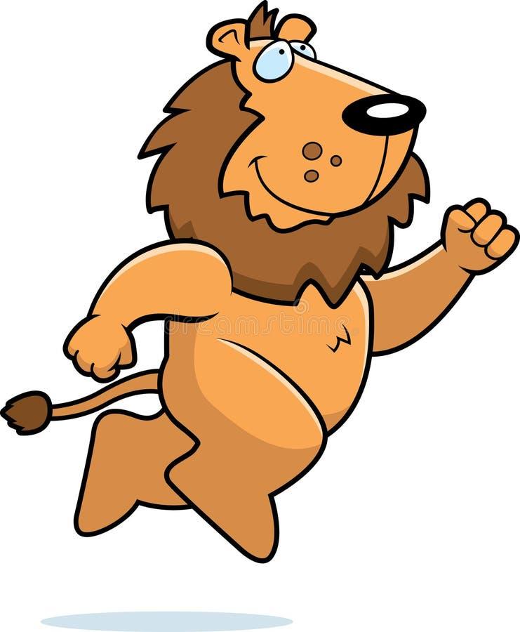 Het Springen van de leeuw vector illustratie