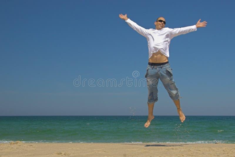 Het springen van de mens royalty-vrije stock afbeelding