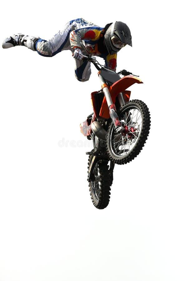 Het springen van de motocross royalty-vrije stock afbeelding