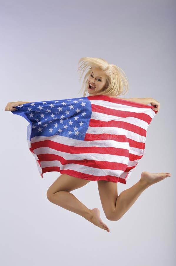 Het springen van de V.S. royalty-vrije stock afbeelding