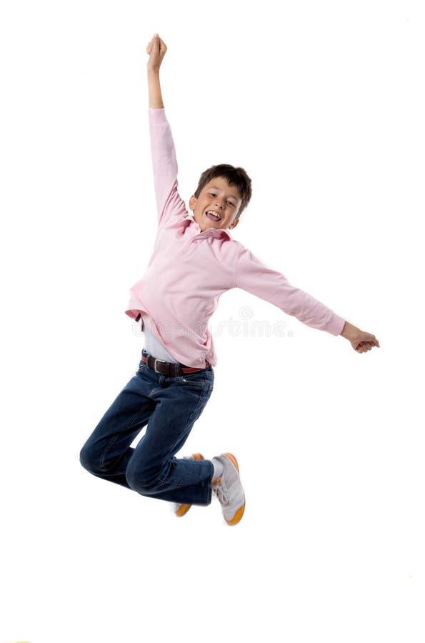 Het springen van het kind royalty-vrije stock fotografie