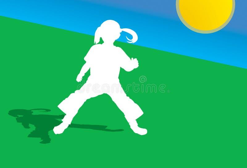 Download Het springen van het kind stock illustratie. Afbeelding bestaande uit meisje - 33661
