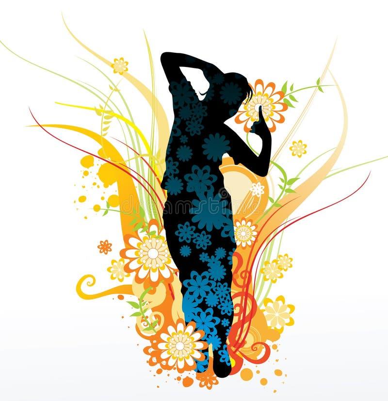 Het springen van het meisje stock illustratie